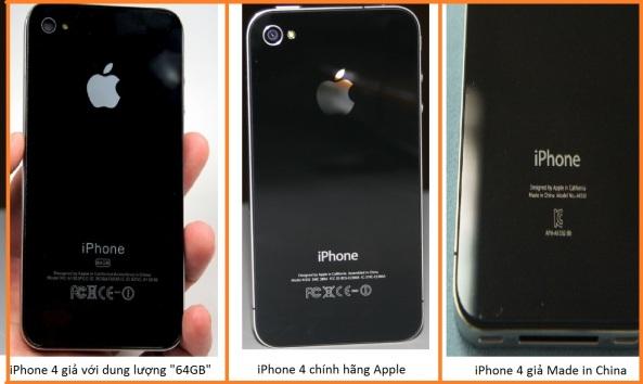 Phân biệt iPhone thật giả
