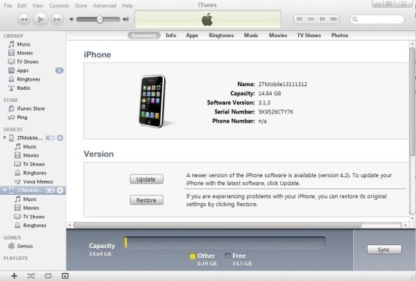 iPhone chính hãng được iTunes nhận biết